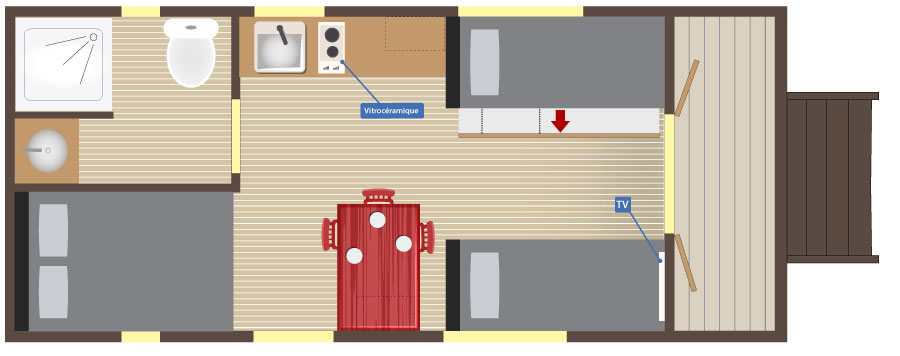 Slowmoov plan de la roulotte Gîte Premium