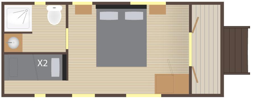 Slowmoov plan de la roulotte hôtelière