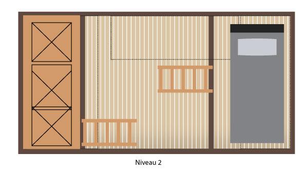 Plan de la cabane Kyara hébergement insolite en Champagne