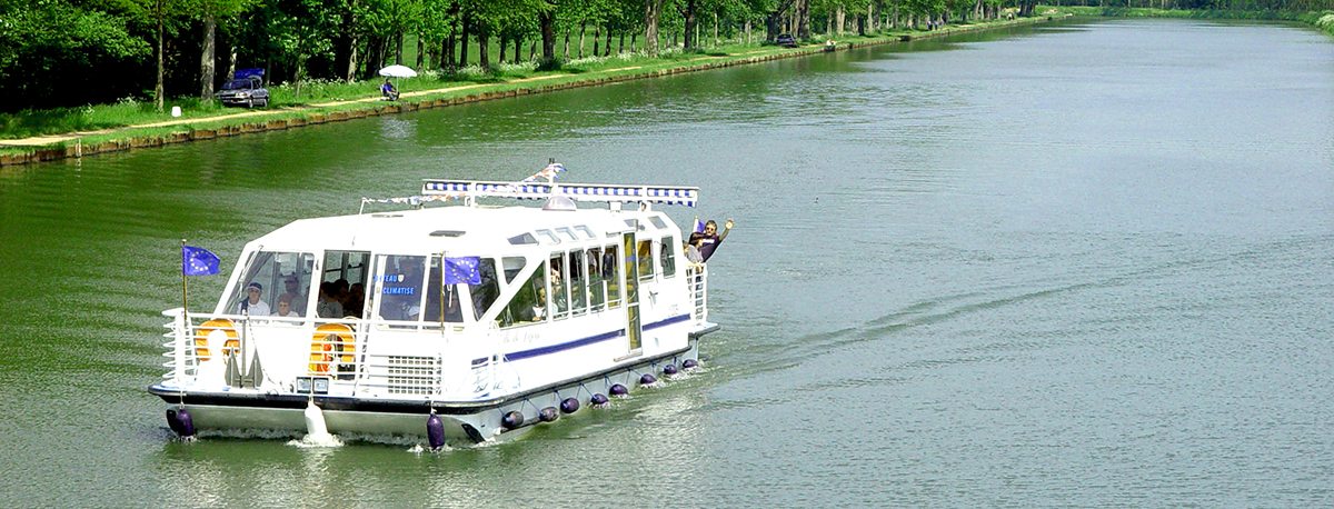 promenade bateau ville de Digoin